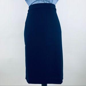 Navy No 2 Pencil Skirt Four Seasons Stretch Sz 8T